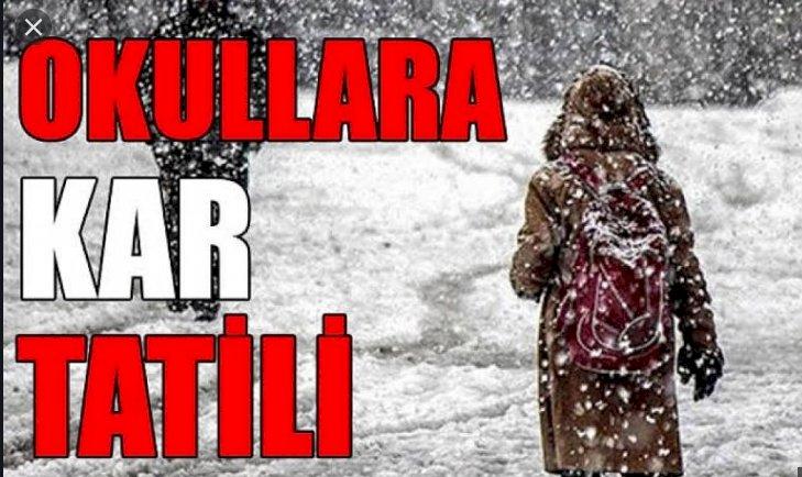 Şanlıurfa'da Yağan Kar Nedeniyle Okullar Tatil Edildi