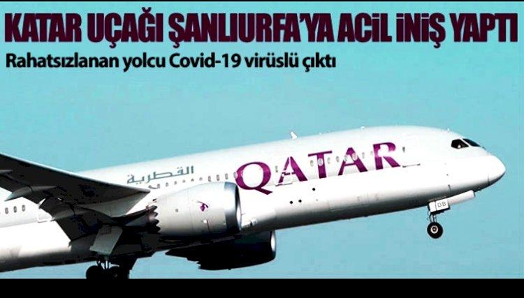 Katar  Yolcu Uçağı  Urfa'ya Zorunlu İniş Yaptı
